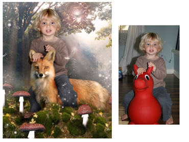 NEW - The Fox Magical Portrait - A fun background for your little boy!