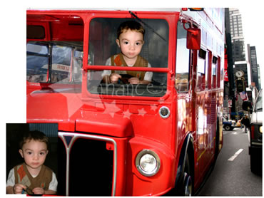 Bus Driver Magical Portrait - A fun background for your little boy!