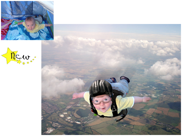 Sky dive Magical Photo Portrait - great fun theme for adventurous little boys!