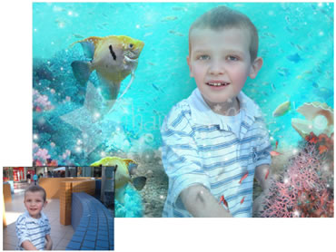 Under the sea Magical Portrait - A fun background for your little boy!