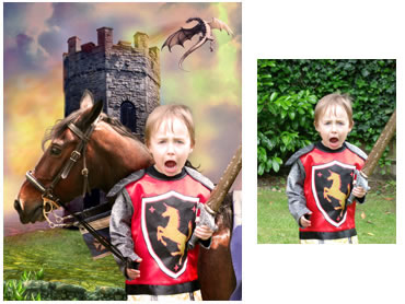 Brave Knight Magical Portrait - A fun background for your little boy!