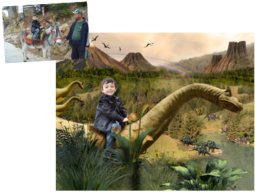 Land Before Time Magical Photo Portrait - great background for any dino loving little boy!