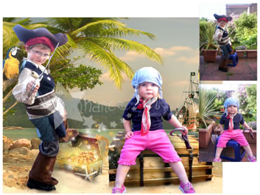 Pirates Island Magical Portrait - Perfect for both boys and girls!