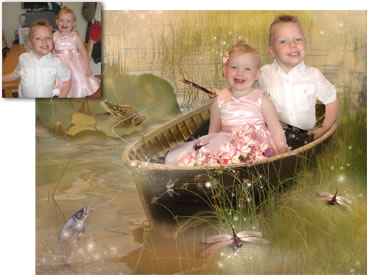 Gone Fishing Magical Portrait - Perfect for both boys and girls!