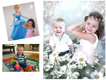NEW - Aqua Daisies Magical Portrait - Perfect for both boys and girls! Any colour combinations available - just ask!