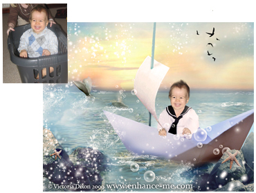 Sail Away Portrait - Perfect for both boys and girls!