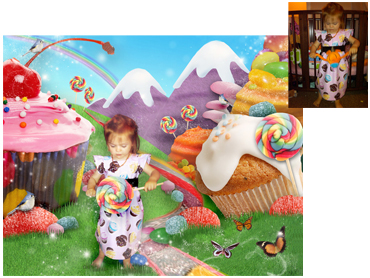 New magical Photo Portrait Theme - Candyland - Brilliant birght theme for any sweet little girl!