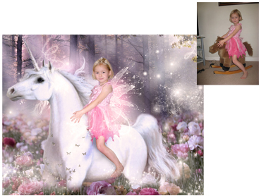 Unicorn Dreams Magical Photo Portrait - Little girls will love this one, enchanted and whimsical