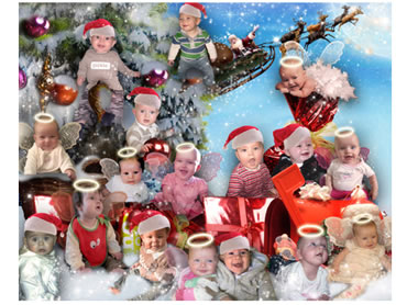 Christmas Magical Portrait - What a great way to create a unique Christmas greeting!