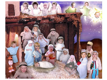 Nativity Magical Portrait - What a great way to create a unique Christmas greeting!