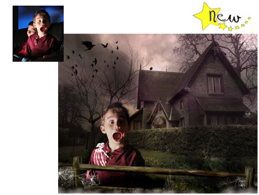 NEW Halloween Themed Magical Photo portrait - The Haunted House - This one is great for boys and girls alike!