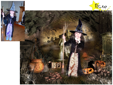 Halloween Themed Magical Photo Portrait - Eerie Forest - Great fun theme for children of any age for Halloween!