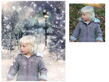 Narnia Magical Portrait - A wonderfully fun enchanting background. - Perfect for a Unique Christmas card greeting!