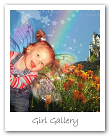 Girl Gallery - Fairy photos, enchanting and magical portrait backgrounds to make any little girl feel special!